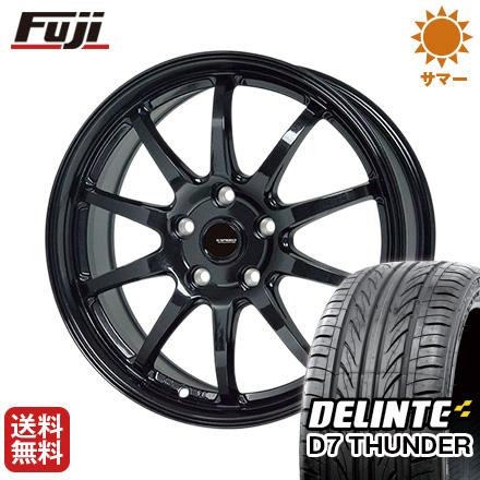 タイヤはフジ 送料無料 HOT STUFF ホットスタッフ ジースピード G-04 7J 7.00-17 DELINTE デリンテ D7 サンダー(限定) 215/45R17 17インチ サマータイヤ ホイール4本セット