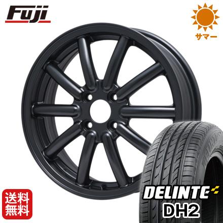 タイヤはフジ 送料無料 ALGERNON アルジェノン フェニーチェ RX-1 4.5J 4.50-14 DELINTE デリンテ DH2(限定) 155/65R14 14インチ サマータイヤ ホイール4本セット
