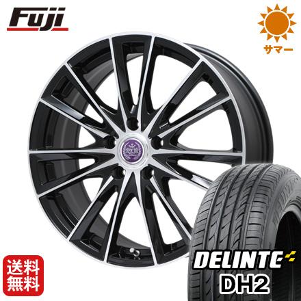 タイヤはフジ 送料無料 LEHRMEISTER レアマイスター ソライアV7 7J 7.00-17 DELINTE デリンテ DH2(限定) 215/50R17 17インチ サマータイヤ ホイール4本セット