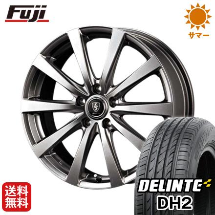 タイヤはフジ 送料無料 MID ユーロスピード G10 7J 7.00-17 DELINTE デリンテ DH2(限定) 215/60R17 17インチ サマータイヤ ホイール4本セット