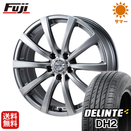 タイヤはフジ 送料無料 MONZA モンツァ ZACK JP-110 10スポーク 7J 7.00-17 DELINTE デリンテ DH2(限定) 215/50R17 17インチ サマータイヤ ホイール4本セット