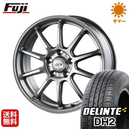 タイヤはフジ 送料無料 INTER MILANO インターミラノ LCZ 010 7J 7.00-18 DELINTE デリンテ DH2(限定) 225/55R18 18インチ サマータイヤ ホイール4本セット
