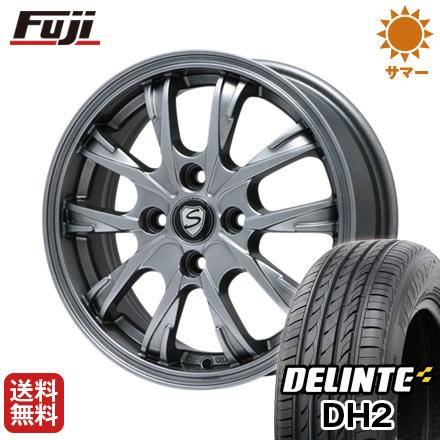 タイヤはフジ 送料無料 BRANDLE ブランドル 486 5.5J 5.50-14 DELINTE デリンテ DH2(限定) 175/65R14 14インチ サマータイヤ ホイール4本セット