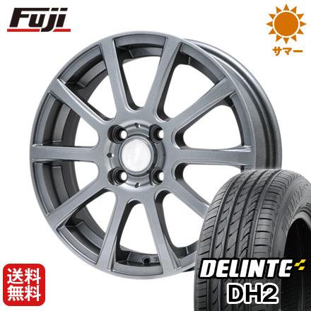 タイヤはフジ 送料無料 BRANDLE ブランドル 565T 4.5J 4.50-14 DELINTE デリンテ DH2(限定) 155/65R14 14インチ サマータイヤ ホイール4本セット
