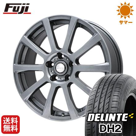 タイヤはフジ 送料無料 BIGWAY ビッグウエイ B-WIN ISX(メタリックグレー) 7.5J 7.50-18 DELINTE デリンテ DH2(限定) 225/40R18 18インチ サマータイヤ ホイール4本セット