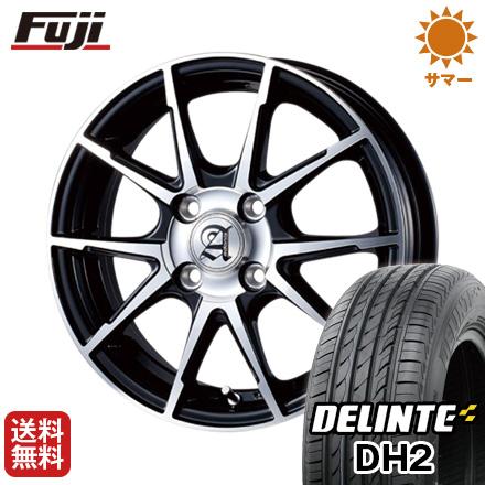 タイヤはフジ 送料無料 TECHNOPIA テクノピア アドニス JXS 4.5J 4.50-14 DELINTE デリンテ DH2(限定) 155/65R14 14インチ サマータイヤ ホイール4本セット