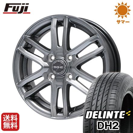 タイヤはフジ 送料無料 BRANDLE ブランドル G61 4.5J 4.50-14 DELINTE デリンテ DH2(限定) 155/65R14 14インチ サマータイヤ ホイール4本セット