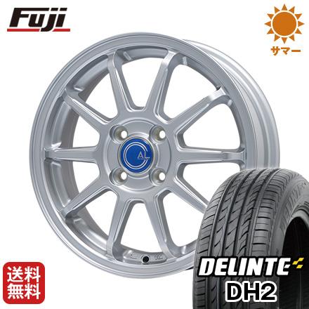 タイヤはフジ 送料無料 BRANDLE ブランドル M60 4.5J 4.50-14 DELINTE デリンテ DH2(限定) 155/65R14 14インチ サマータイヤ ホイール4本セット
