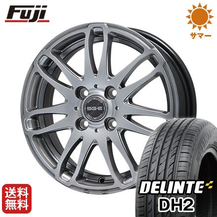 タイヤはフジ 送料無料 BRANDLE ブランドル G72 4.5J 4.50-14 DELINTE デリンテ DH2(限定) 155/65R14 14インチ サマータイヤ ホイール4本セット