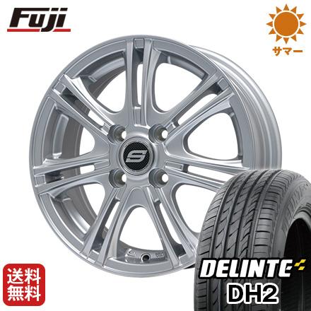 タイヤはフジ 送料無料 BRANDLE ブランドル M68 4.5J 4.50-14 DELINTE デリンテ DH2(限定) 155/65R14 14インチ サマータイヤ ホイール4本セット