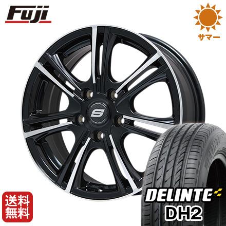 タイヤはフジ 送料無料 BRANDLE ブランドル M68BP 7J 7.00-17 DELINTE デリンテ DH2(限定) 215/50R17 17インチ サマータイヤ ホイール4本セット