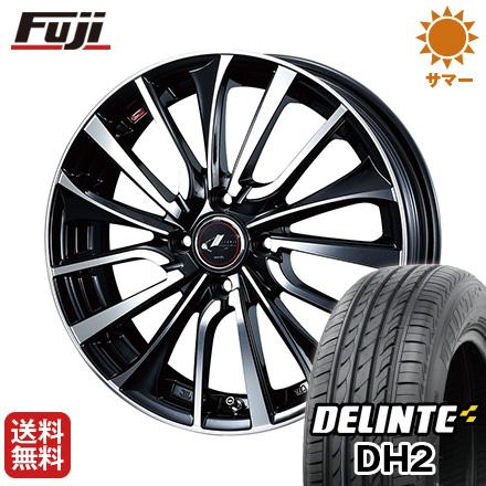 タイヤはフジ 送料無料 WEDS ウェッズ レオニス VT 5.5J 5.50-15 DELINTE デリンテ DH2(限定) 185/60R15 15インチ サマータイヤ ホイール4本セット