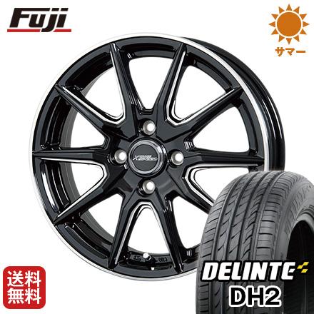 タイヤはフジ 送料無料 HOT STUFF ホットスタッフ クロススピード プレミアムRS10 ダブルマシニング 6J 6.00-16 DELINTE デリンテ DH2(限定) 195/55R16 16インチ サマータイヤ ホイール4本セット