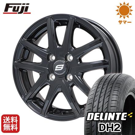 タイヤはフジ 送料無料 BRANDLE ブランドル M61B 5.5J 5.50-14 DELINTE デリンテ DH2(限定) 175/65R14 14インチ サマータイヤ ホイール4本セット