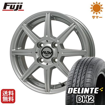 タイヤはフジ 送料無料 CLIMATE クライメイト アリア 4.5J 4.50-14 DELINTE デリンテ DH2(限定) 155/65R14 14インチ サマータイヤ ホイール4本セット