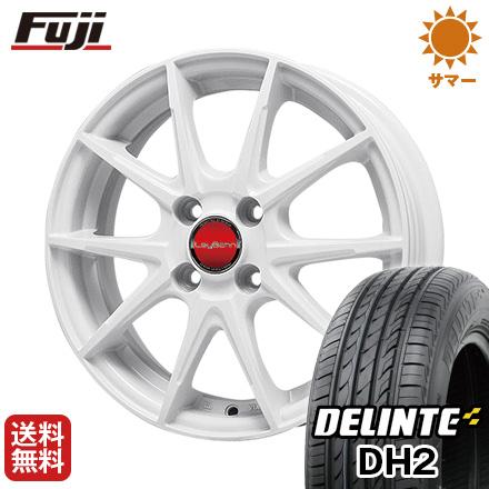 タイヤはフジ 送料無料 BIGWAY ビッグウエイ LEYBAHN WGS 4.5J 4.50-14 DELINTE デリンテ DH2(限定) 155/65R14 14インチ サマータイヤ ホイール4本セット