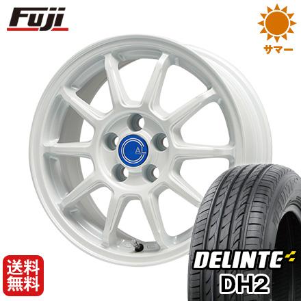 タイヤはフジ 送料無料 BRANDLE-LINE ブランドルライン カルッシャー ホワイト 7J 7.00-17 DELINTE デリンテ DH2(限定) 215/50R17 17インチ サマータイヤ ホイール4本セット
