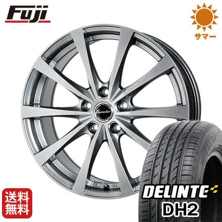 タイヤはフジ 送料無料 HOT STUFF ホットスタッフ エクシーダー E03 6.5J 6.50-16 DELINTE デリンテ DH2(限定) 215/65R16 16インチ サマータイヤ ホイール4本セット