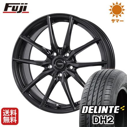 タイヤはフジ 送料無料 HOT STUFF ホットスタッフ ジースピード G-02 7.5J 7.50-18 DELINTE デリンテ DH2(限定) 225/45R18 18インチ サマータイヤ ホイール4本セット