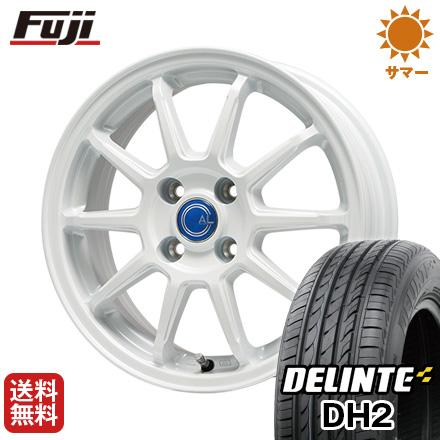 タイヤはフジ 送料無料 BRANDLE-LINE ブランドルライン カルッシャー ホワイト 4.5J 4.50-14 DELINTE デリンテ DH2(限定) 155/65R14 14インチ サマータイヤ ホイール4本セット