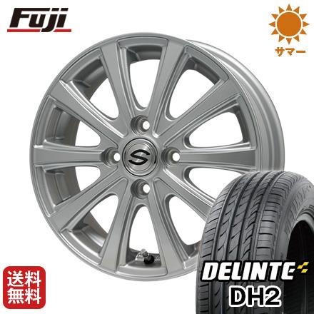 タイヤはフジ 送料無料 BRANDLE ブランドル ZN-10 4.5J 4.50-14 DELINTE デリンテ DH2(限定) 155/65R14 14インチ サマータイヤ ホイール4本セット