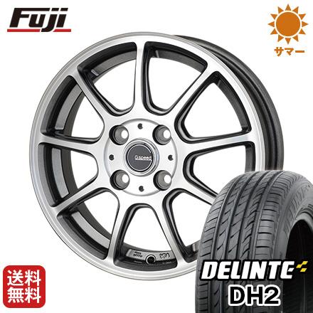 タイヤはフジ 送料無料 HOT STUFF ホットスタッフ ジースピード P-01 6J 6.00-16 DELINTE デリンテ DH2(限定) 195/55R16 16インチ サマータイヤ ホイール4本セット