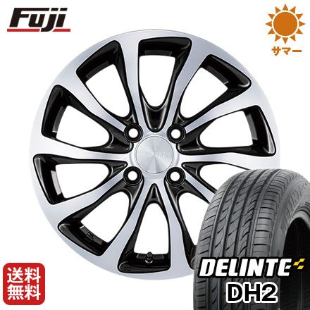 タイヤはフジ 送料無料 BRIDGESTONE ブリヂストン バルミナ T10 5.5J 5.50-15 DELINTE デリンテ DH2(限定) 185/60R15 15インチ サマータイヤ ホイール4本セット