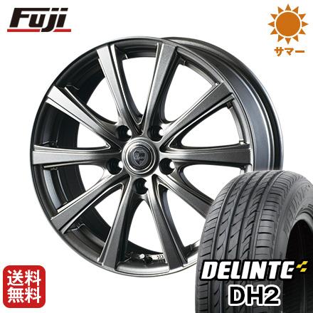 タイヤはフジ 送料無料 INTER MILANO インターミラノ クレール DG10 7J 7.00-18 DELINTE デリンテ DH2(限定) 225/55R18 18インチ サマータイヤ ホイール4本セット
