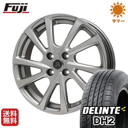 タイヤはフジ 送料無料 BRANDLE-LINE ブランドルライン ボレアノ10 4.5J 4.50-14 DELINTE デリンテ DH2(限定) 155/65R14 14インチ サマータイヤ ホイール4本セット