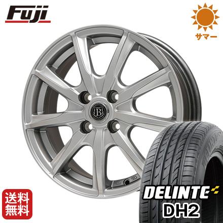 タイヤはフジ 送料無料 BRANDLE-LINE ブランドルライン ボレアノ9 4.5J 4.50-14 DELINTE デリンテ DH2(限定) 155/65R14 14インチ サマータイヤ ホイール4本セット