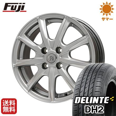 タイヤはフジ 送料無料 BRANDLE ブランドル E05 4.5J 4.50-14 DELINTE デリンテ DH2(限定) 155/65R14 14インチ サマータイヤ ホイール4本セット