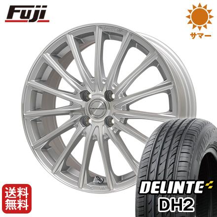 タイヤはフジ 送料無料 LEHRMEISTER LM-S FS15 (シルバーポリッシュ) 6.5J 6.50-16 DELINTE デリンテ DH2(限定) 205/50R16 16インチ サマータイヤ ホイール4本セット