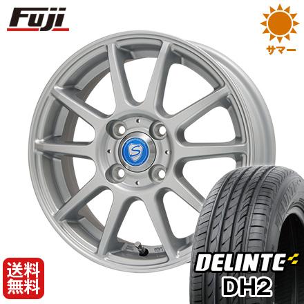 タイヤはフジ 送料無料 BRANDLE ブランドル 302 5.5J 5.50-14 DELINTE デリンテ DH2(限定) 175/65R14 14インチ サマータイヤ ホイール4本セット