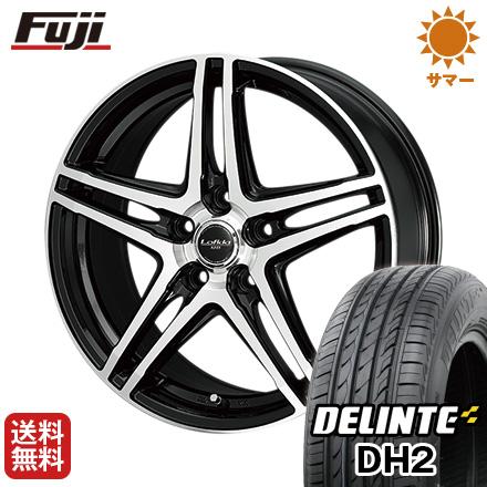タイヤはフジ 送料無料 シエンタ 5穴/100 DUNLOP ダンロップ ロフィーダ XH5 6J 6.00-15 DELINTE デリンテ DH2(限定) 185/60R15 15インチ サマータイヤ ホイール4本セット