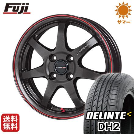 タイヤはフジ 送料無料 HOT STUFF ホットスタッフ クロススピード ハイパーエディションCR-7 4.5J 4.50-15 DELINTE デリンテ DH2(限定) 165/50R15 15インチ サマータイヤ ホイール4本セット