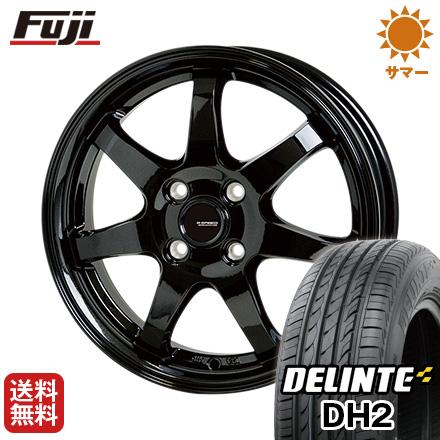 タイヤはフジ 送料無料 HOT STUFF ホットスタッフ ジースピード G-03 4.5J 4.50-14 DELINTE デリンテ DH2(限定) 155/65R14 14インチ サマータイヤ ホイール4本セット