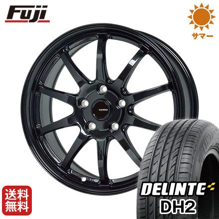 タイヤはフジ DH2(限定) 18インチ 送料無料 HOT STUFF ホットスタッフ ジースピード G-04 7.5J 7.5J 7.50-18 DELINTE デリンテ DH2(限定) 225/40R18 18インチ サマータイヤ ホイール4本セット, Colorful Textile Market:675d13b1 --- sunward.msk.ru