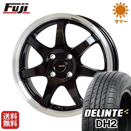 タイヤはフジ 送料無料 HOT STUFF ホットスタッフ ジースピード P-03 4.5J 4.50-15 DELINTE デリンテ DH2(限定) 165/50R15 15インチ サマータイヤ ホイール4本セット