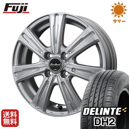 タイヤはフジ 送料無料 MID ユーロスピード C-07 4.5J 4.50-14 DELINTE デリンテ DH2(限定) 155/65R14 14インチ サマータイヤ ホイール4本セット