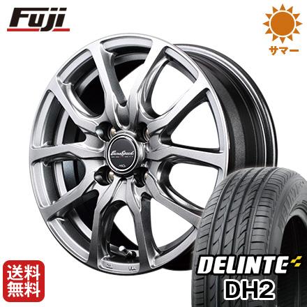 タイヤはフジ 送料無料 MID ユーロスピード G52 4.5J 4.50-14 DELINTE デリンテ DH2(限定) 155/65R14 14インチ サマータイヤ ホイール4本セット