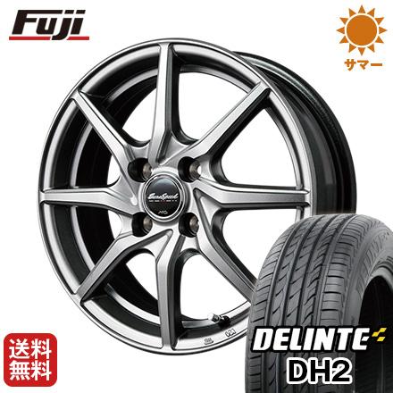 タイヤはフジ 送料無料 MID ユーロスピード G810 4.5J 4.50-14 DELINTE デリンテ DH2(限定) 155/65R14 14インチ サマータイヤ ホイール4本セット