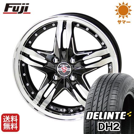 タイヤはフジ 送料無料 KYOHO 共豊 シュタイナー LSV 6J 6.00-16 DELINTE デリンテ DH2(限定) 195/55R16 16インチ サマータイヤ ホイール4本セット
