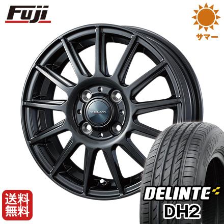 タイヤはフジ 送料無料 WEDS ウェッズ ヴェルバ イゴール 4.5J 4.50-14 DELINTE デリンテ DH2(限定) 155/65R14 14インチ サマータイヤ ホイール4本セット