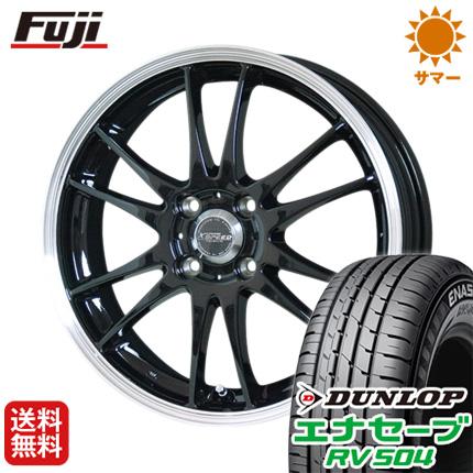 タイヤはフジ 送料無料 フリード 5穴/114 HOT STUFF ホットスタッフ クロススピード プレミアム6 Light 6J 6.00-15 DUNLOP エナセーブ RV504 185/65R15 15インチ サマータイヤ ホイール4本セット