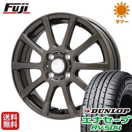 タイヤはフジ 送料無料 BRANDLE ブランドル 565Z 4J 4.00-13 DUNLOP エナセーブ RV504 155/65R13 13インチ サマータイヤ ホイール4本セット