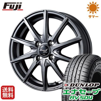 タイヤはフジ 送料無料 MID ユーロストリーム JL10 5.5J 5.50-14 DUNLOP エナセーブ RV504 185/70R14 14インチ サマータイヤ ホイール4本セット