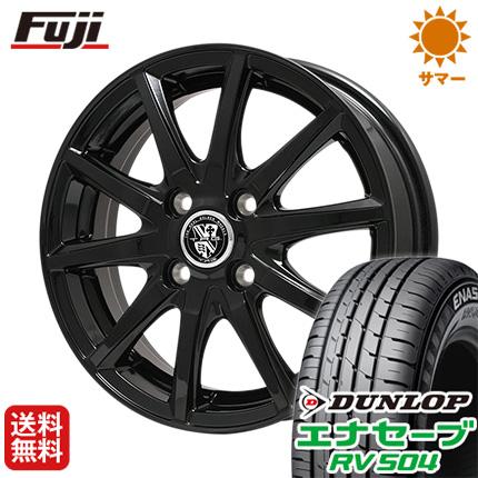 タイヤはフジ 送料無料 BIGWAY ビッグウエイ TRG GB10 5.5J 5.50-14 DUNLOP エナセーブ RV504 185/70R14 14インチ サマータイヤ ホイール4本セット