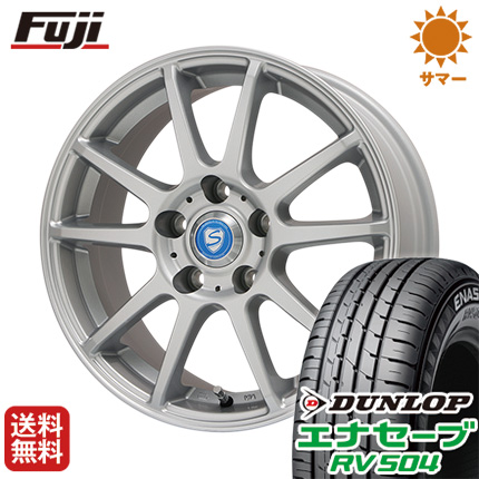タイヤはフジ 送料無料 BRANDLE-LINE ブランドルライン カリテスS10 6.5J 6.50-16 DUNLOP エナセーブ RV504 215/65R16 16インチ サマータイヤ ホイール4本セット