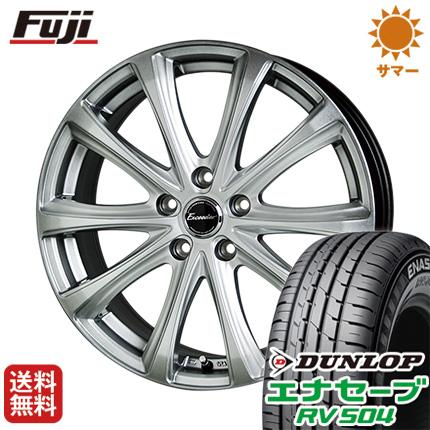 タイヤはフジ 送料無料 HOT STUFF ホットスタッフ エクシーダー E04 6.5J 6.50-16 DUNLOP エナセーブ RV504 215/65R16 16インチ サマータイヤ ホイール4本セット
