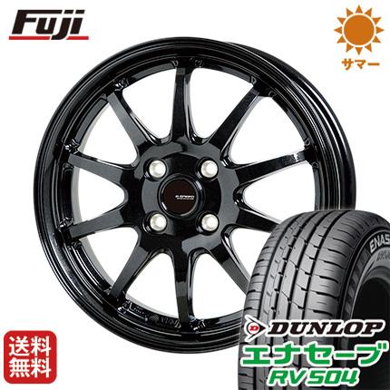 タイヤはフジ 送料無料 HOT STUFF ホットスタッフ ジースピード G-04 4J 4.00-13 DUNLOP エナセーブ RV504 155/65R13 13インチ サマータイヤ ホイール4本セット